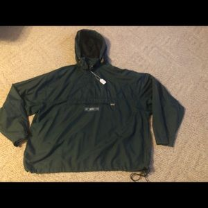American Eagle Nylon Pullover Jacket Mens XL Green